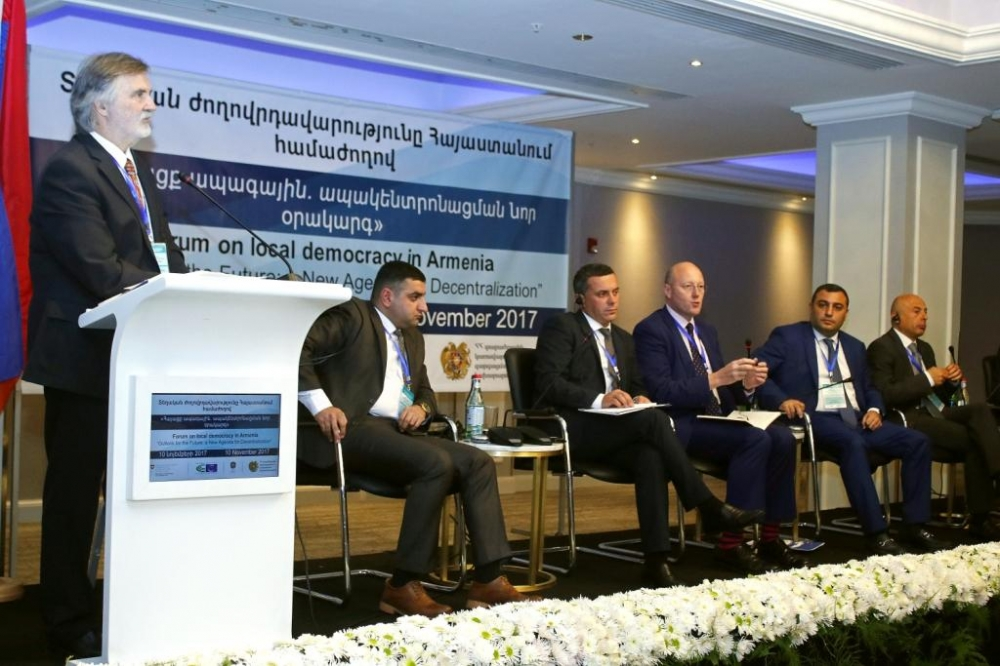 """Outlook for the future: a new agenda for decentralisation"" forum on local democracy in Armenia took place in Yerevan"