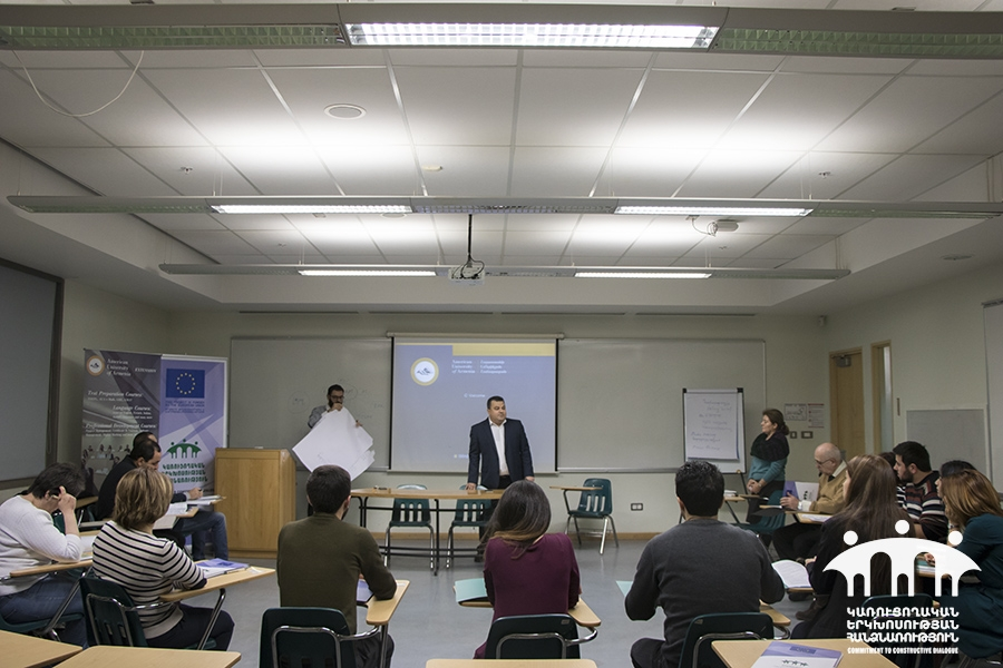 CSO Capacity Building Training of the 4 Phase was launched at the American University of Armenia