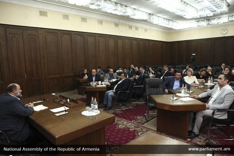 A debate about self government organized by Permanent committee on territorial, local self-government, agricultural and environmental issues of the National Assembly of RA