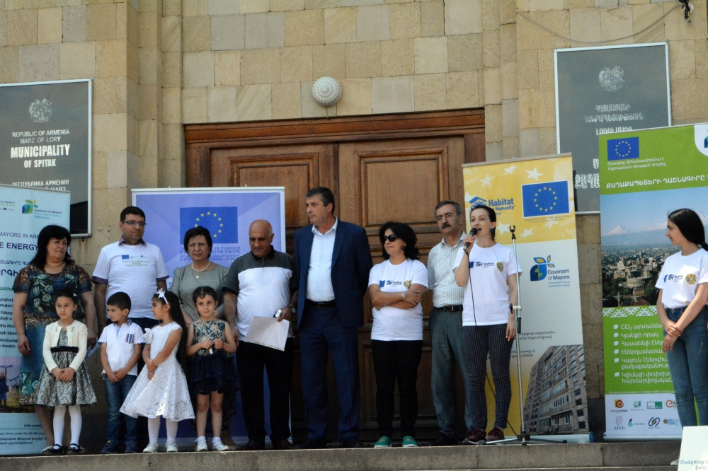 Energy Days in Spitak. newly opened photo voltaic station in Spitak will supply energy to N2 kindergarden and municipality