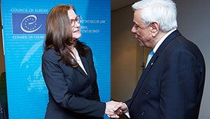 Meeting with the Greek President:  Gudrun Mosler-Törnström calls for greater solidarity with Greece