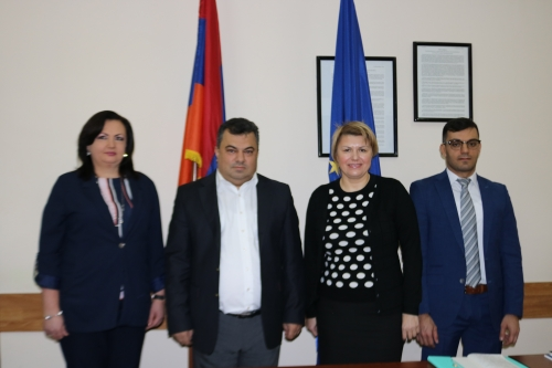 The representatives of the Supreme Rada of Ukraine at the Union of Communities of Armenia
