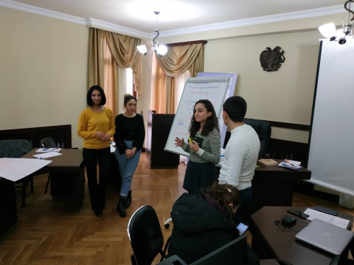 Youth Engagement in the Local Self-Governance. workshop in Abovyan city