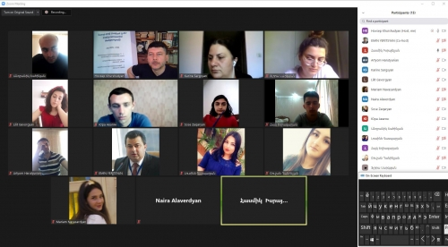 Capacity Building Webinar and Meeting with the Member of the Council of Elders of Yerevan