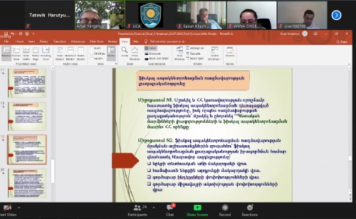 Dozens of community leaders, council of elders members, community servants attended the webinar on Financial Issues of Local Self-Government in Armenia